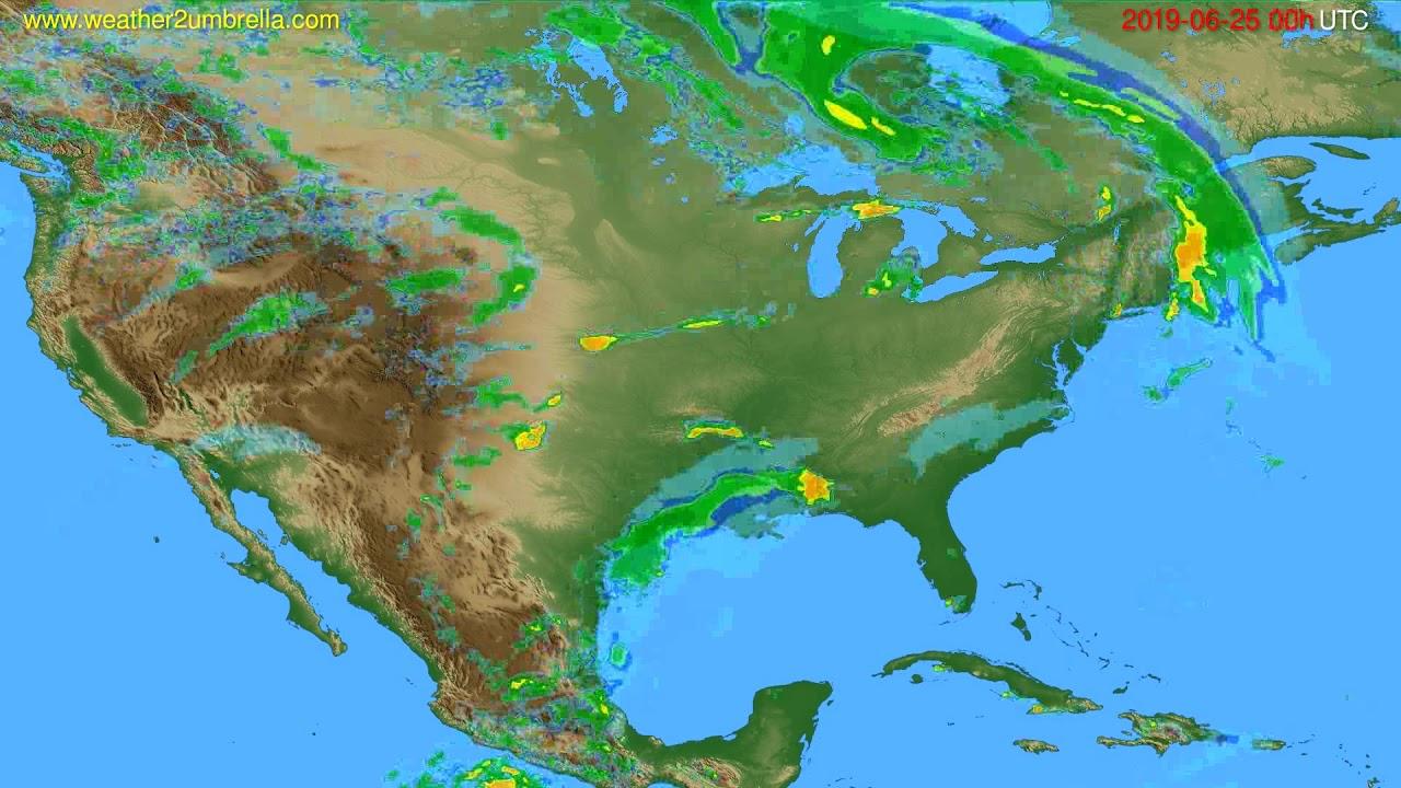 Radar forecast USA & Canada // modelrun: 12h UTC 2019-06-25