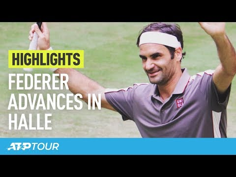 Federer Fires Into Round Two In Halle | HIGHLIGHTS | ATP