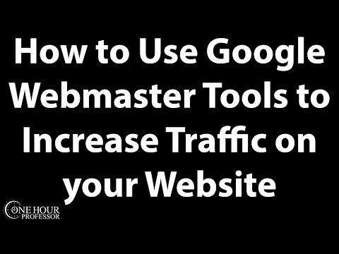 Use Google Webmaster Tools for Traffic