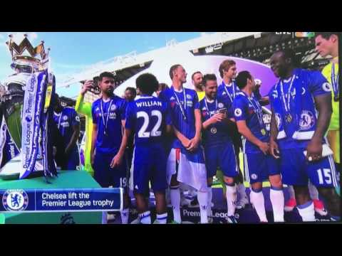 Chelsea 2016 - 2017 premier league chapmpionship  trophy presentation