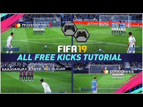 FIFA 19 ALL FREE KICKS TUTORIAL - HOW TO SCORE EVERY FREE KICK (Curve Driven Dipping Trivela Power)