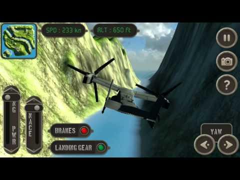 Video of V22 Osprey Flight Simulator