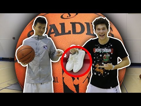1 V 1 VS TRASH TALKING COLLEGE BASKETBALL PLAYER FOR YEEZYS!!