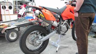 8. KTM 525 EXC Stock muffler vs FMF Q4