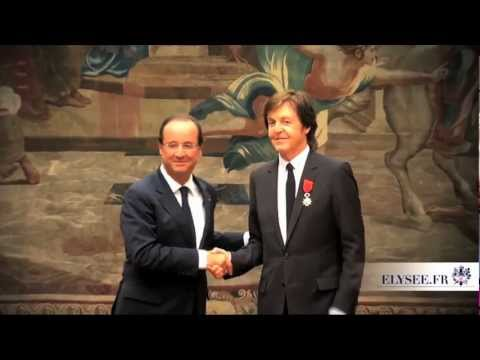 Paul McCartney - France's Legion of Honour