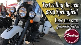 7. Test riding the new 2019 Indian Springfield Darkhorse, not a review just fun behind the bars.