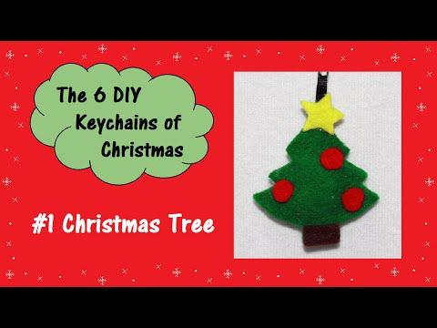 #1 Christmas Tree | The 6 DIY Keychains of Christmas