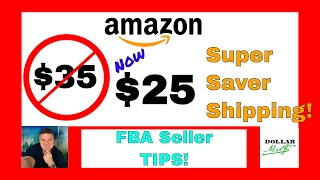 """BREAKING AMAZON FBA SELLER NEWS!!!Recently Amazon quietly changed the amount required to spend to get their free """"Super Saver Shipping"""" from $35 to $25! What this means to sellers is that we have a new """"sweet spot"""" to set FBA product prices at to ensure EVERYONE can get their Fulfillment By Amazon """"Prime"""" products with FREE SHIPPING! In this video, I share with you tips and techniques on how to take advantage of the new pricing so that you can make more money selling on Amazon.com! LINKS:Learn How To Sell On Amazon! Click the """"FBA Info"""" tab at the top of the page at: http://www.DollarMoves.comFREE E-book by Nathan Holmquist Showing How to Sell BOOKS on Amazon at: http://www.AmazonMoves.com Get 3 FREE FBA Learning Videos HERE!: http://www.DollarMoves.com/ABCVideosGet The """"Amazon Boot Camp"""" (ABC) FBA Step-By-Step Video Based Learning Course! Jessica Larrew has RECENTLY UPDATED the course and also INCLUDED THE ONLINE SOURCING MODULES! Learn more (and BUY) HERE!: http://www.DollarMoves.com/JLABC Get """"The Proven Amazon Course"""" (with the """"Proven Private Label"""" Course INCLUDED!)! This FBA Course is CONTINUALLY UPDATED AND ADDED TO! Learn more (and BUY) HERE!: http://www.DollarMoves.com/JCPACLOOKING FOR ADVANCED AMAZON SELLER TRAINING?! Check out the """"Unstoppable Amazon Academy"""" suite of advanced seller trainings HERE!: http://www.DollarMoves.com/UAAAre you interested in FBA COACHING from experienced coaches? Here are some great options from Robyn Johnson!:""""Momentum"""" Group Coaching and Accountability for FBA!: http://www.DollarMoves.com/MomentumOne-On-One Mentoring with the """"Mentoring"""" Personal Coaching!: http://www.DollarMoves.com/AmazonMentoringSign up for the EMAIL NEWSLETTER to be informed of new information about Dollar Moves HERE!: http://www.DollarMoves.comAre you INTERESTED IN GETTING A """"Dollar Moves"""" SHIRT?! Check out the LATEST OFFERINGS HERE!:http://www.DollarMoves.com/FirstShirtsALL Recommended FBA Information Products:http://www.DollarMoves.com/FBAInfoALL Recom"""