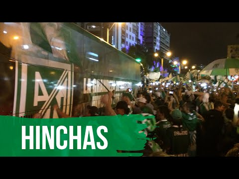 RECIBIMIENTO DE LA HINCHADA VERDOLAGA. - Los del Sur - Atlético Nacional