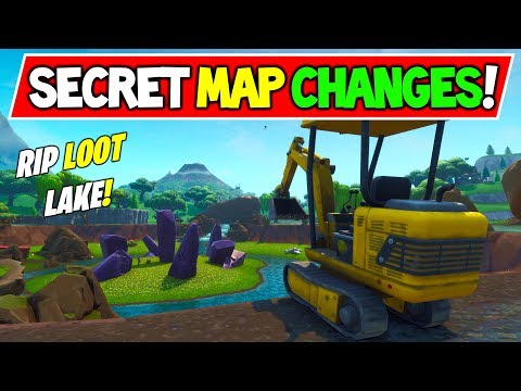 "*new* Fortnite Secret Map Changes ""diggers Surround Loot Lake!"" Rip! New Event Incoming!"