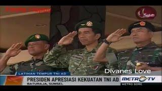 Baturaja Indonesia  city images : Presiden Jokowi Saksikan Latihan Tempur TNI AD di Baturaja