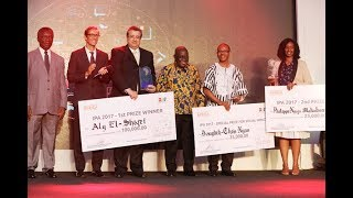 The President Nana Akufo-Addo has joined the Africa Innovation Foundation for the 2017 Innovation Prize for Africa Awards event  in Accra. Mr. Aly El-Shafei from Egypt won the grand Prize for 2017. He gets one hundred thousand dollars to expand his Innovative idea. President Akufo-Addo said his government is prioritising science, Technology and Innovation to anchor the industrialization agenda of the administration and revealed that a bill will soon be presented in parliament to that effect.