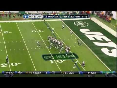 Santonio Holmes - Mark Sanchez lets the Jets with a late TD to Santonio Holmes. Jets inprove to 8-2.
