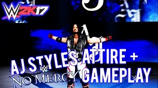 WWE 2K17 - AJ Styles No Mercy Attire + Gameplay ( AJ Styles vs Kevin Owens ) Highlights