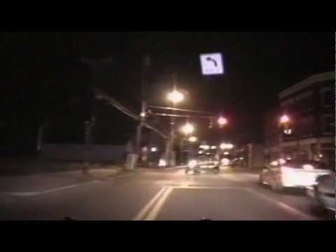 Crazy footage - Stupid thief takes van and trailer...making getaway tough ...