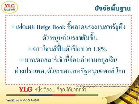 YLG บทวิเคราะห์ราคาทองคำประจำวัน 03-09-15