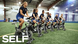 Video Professional Soccer Players Take a SoulCycle Class and Try to Keep Up With the Instructors | SELF MP3, 3GP, MP4, WEBM, AVI, FLV Maret 2019