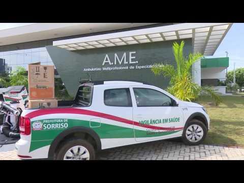 Reportagem produzida pela TV Record de Sorriso sobre a inauguração do novo Ambulatório Multiprofissional Especializado (AME) de Sorriso, construído por meio do Programa de Apoio aos Municípios da UHE Sinop
