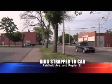 Indiana Couple Arrested For Strapping Kids On Car