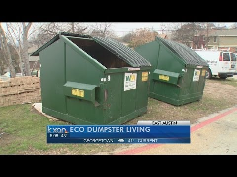 Professor will live in Dumpster for a year