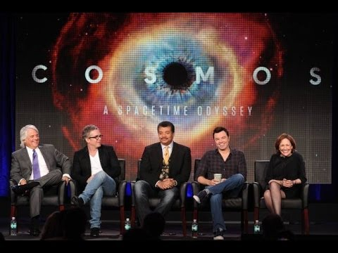 neil - http://www.devoutnone.com/ Cosmos A Space Time Odyssey stars Neil Degrasse Tyson. Seth MacFarlane and Ann Druyan join Neil Degrasse Tyson on stage in front o...