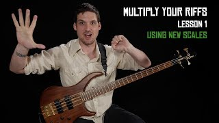 "BECOME A PATRON: http://patreon.com/joshfossgreenFREE PDF FOR THIS LESSON: http://joshfossgreen.com/?p=1654Woohoo! I'm so excited to welcome you to the Multiply Your Riffs series. I'm gonna show you a ton of ways you can expand your musical vocabulary starting from whatever you already know. Whether you're afraid of improvising, or you're getting ""stuck"" and stale with your soloing, these simple strategies will help you find new territory to explore on your journey to epic bass playing.I would guess that almost every high-level professional musician (especially improvisers) uses most or all of these strategies. My hope as you go through this series of six lessons is that you'll have a few ""wow I never thought to do that!"" lightbulb moments. Once you know these tools, you'll be able to use them to multiply everything you know many many times.I urge you to take what you learn in these bite-size lessons and apply it to your own favorite riffs, licks, fills, and bass lines. If you only learn the examples I use in the videos, you'll be missing out on most of the value from these lessons.In this first lesson, we'll look at using new scales to get new ideas out of an existing lick.Check out my complete step-by-step beginner course: http://joshfossgreen.com/b2bJosh Fossgreen is endorsed by TC Electronic and Hipshothttp://tcelectronic.com/http://www.hipshotproducts.com/"