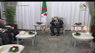 رئاسة الجمهورية / رئيس الجمهورية السيد عبد المجيد تبون يستقبل وزير الشؤون الخارجية السعودي