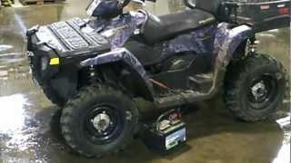 3. LOT 1198A 2007 Polaris 500 Sportsman EFI HO X2 4X4 ATV AWD Camo Edition