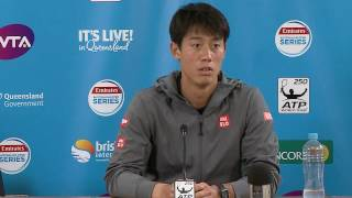 Kei Nishikori's press conference after being defeated in the Men's Singles Final by Grigor Dimitrov at the Brisbane International 2017.