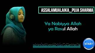 Video Puja Sharma Assalamualaika + Lyric lagu MP3, 3GP, MP4, WEBM, AVI, FLV Mei 2019