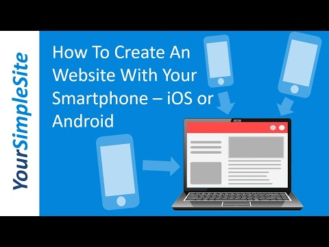 How to create a website on your smartphone - Android or iPhone