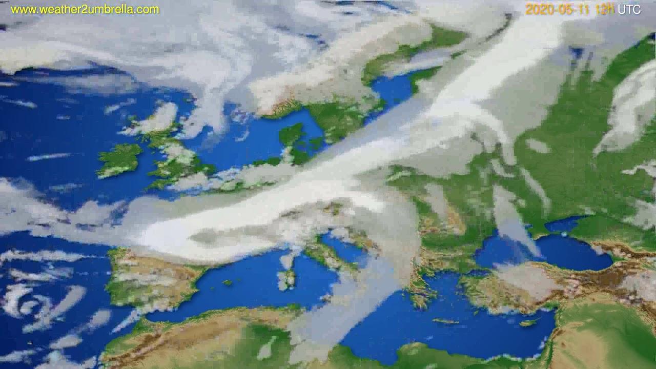 Cloud forecast Europe // modelrun: 00h UTC 2020-05-11