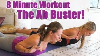 8 Minute Abs Workout, Flat Ab Buster! Home Exercise Routine, Core Strength Fitness Training - YouTube
