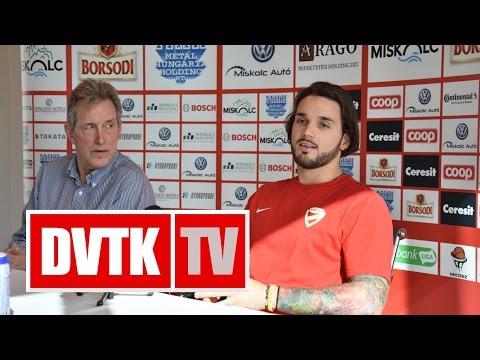 """""""Gőzerővel a MOL Ligára koncentrálunk""""   2016. október 27.   DVTK TV"""