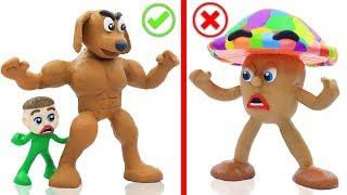 BABY PUPPY DOG COLORS MUSHROOM  Cartoons Play Doh Stop Motion
