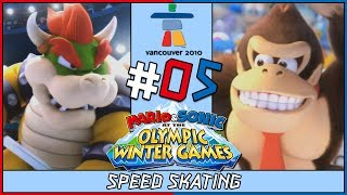 We play Mario and Sonic at the Vancouver Olympic Winter Games for the Nintendo Wii. In part 5, we take on Speed Skating with Bowser and Donkey Kong. Get hype...