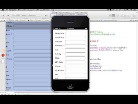 Laying Out A UIScrollView In Interface Builder
