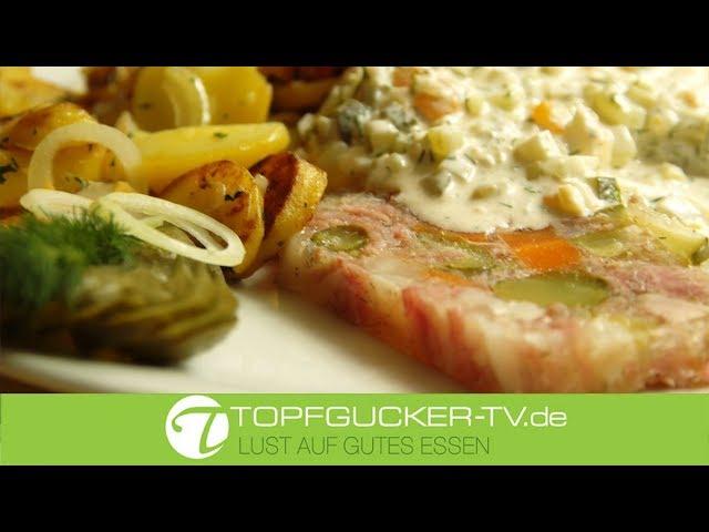 Spreewälder Gurkensülze mit Bratkartoffeln und Remouladensoße   Rezeptempfehlung Topfgucker-TV