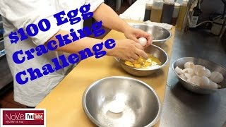 $100 Egg Cracking Challenge - See Description Box For Details by Diaries of a Master Sushi Chef