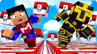 CARRERA DE LUCKY BLOCKS DE POKÉMON EN MINECRAFT 😱
