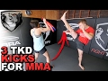 3 Tricky TKD Kick Combos for MMA