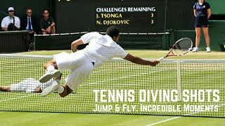 One of the most impressive shots a tennis player can display is a dive at the net.The agility, reflexes and slight bit of luck required make dive shots one of the most exciting aspects of the sport.