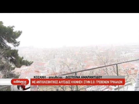 Ισχυροί άνεμοι και χιόνια στη Δυτική Μακεδονία – Ανοιχτή η Εγνατία οδός | 23/02/2019 | ΕΡΤ