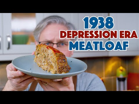 🔵 1938 Depression Era Meat Loaf Recipe || Glen & Friends Cooking