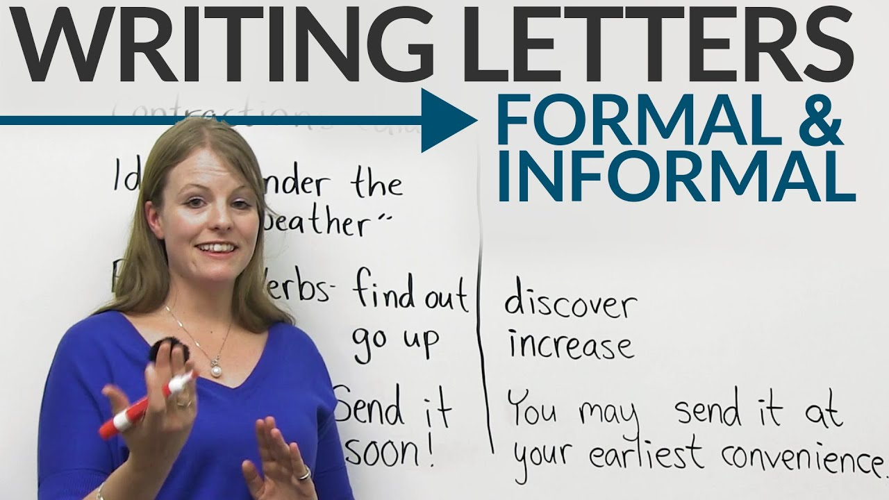 writing letters  formal  u0026 informal english  u00b7 engvid