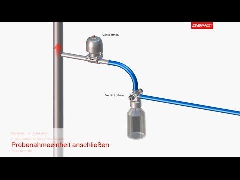 Pharma/Biotech: GEMÜ Sampling Bottle System