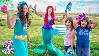 Video Princess Jasmine and Little Mermaid | Water Balloon Pool Party with Twins Kate & Lilly MP3, 3GP, MP4, WEBM, AVI, FLV Juli 2019
