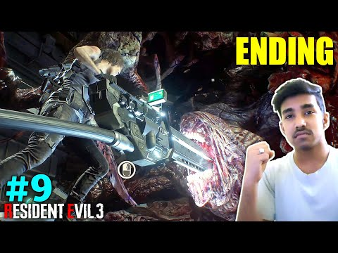 THE FINAL BOSS FIGHT & ENDING | RESIDENT EVIL 3 GAMEPLAY #9