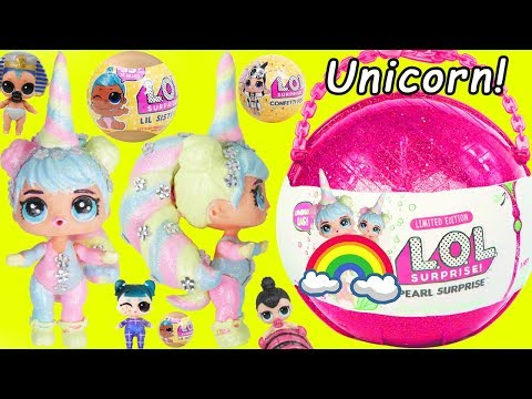 Unicorn LOL Surprise Dolls BIG Custom Doll with Slime and Lil Sister Punk Girl Wedding Boi at School (видео)