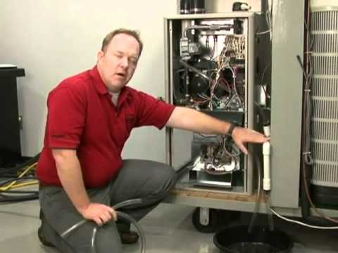 how to unclog furnace drain